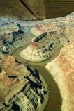 Zusammenströmen des Grüns und des Kolorado-Flusses Lizenzfreies Stockbild