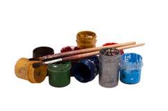 Zusatzkünstler Brushes, Farben lizenzfreie stockbilder