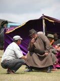 Zuschauer bei Naadam lizenzfreie stockbilder