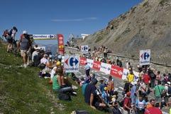 Zuschauer am Tour de France Lizenzfreies Stockfoto