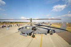 Zuschauer und Hubschrauber MI Lizenzfreie Stockbilder
