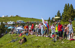 Zuschauer von Le-Tour de France Lizenzfreies Stockfoto