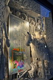 Zuschaueransichtfeiertags-Fensteranzeige bei Bergdorf Goodman in NYC Stockfoto