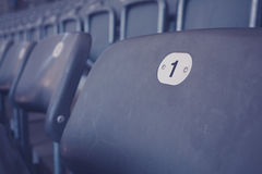 Zuschauertribünen im Stadion Lizenzfreies Stockbild