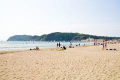 Zushi-Strand, Präfektur Kanagawa, Japan Lizenzfreies Stockfoto