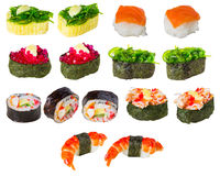 Zushi or Sushi in a various kind of taste a Japanese food Royalty Free Stock Photography