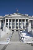 Zustand des Utah-Gebäudes mit Markierungsfahne Lizenzfreies Stockfoto