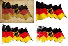 Zustand-Markierungsfahne von Deutschland stock abbildung