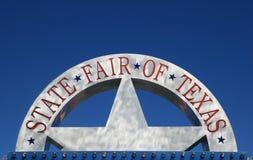 Zustand-Messe des Texas-Zeichens Stockbilder