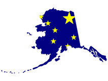 Zustand von Alaska Stockfoto