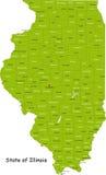 Zustand von Illinois Lizenzfreie Stockfotos