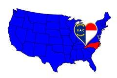 Zustand von Nord-Carolina Lizenzfreie Stockfotos