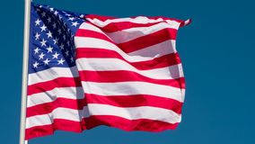 Zustands-Flagge der USA stock video