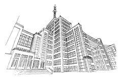 Zustands-Industrie-Gebäude in Kharkov, Ukraine stock abbildung