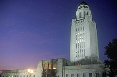 Zustands-Kapitol von Nebraska, Lincoln Stockfotos