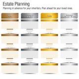 Zustands-Planungskarte-Bronze-Silber-Goldplatin stock abbildung