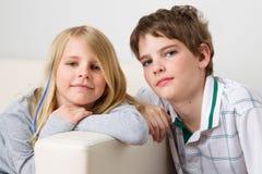 Zuster en broer Royalty-vrije Stock Foto