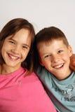 Zuster en broer Stock Foto's