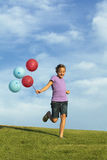 Zusters die met Ballons lopen Royalty-vrije Stock Afbeelding