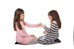 2 zusters of vrienden Stock Afbeeldingen