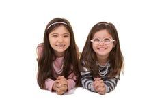 2 zusters of vrienden Stock Afbeelding