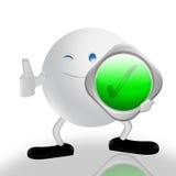 Zustimmung und Zeichen 3d Lizenzfreies Stockfoto