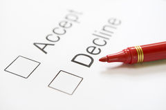Zustimmungswahl lizenzfreie stockfotografie