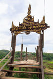 Zutongpae Bridge. Backpack nasaphan created by the force of faith, Buddhism of Thailand Mae Hong taught country Stock Photo