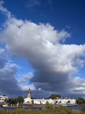 Zutphen in Clouds royalty free stock images