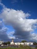 Zutphen en nubes imágenes de archivo libres de regalías