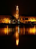 Zutphen por noche Imágenes de archivo libres de regalías