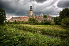 Zutphen Through The Green Royalty Free Stock Images