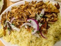 Zutritt des Huhn- Shawarma und Reis stockbilder