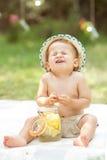 Zuur citroengezicht Stock Foto