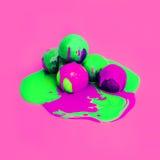 Zuur roomijsontwerp de kleuren van de explosiezomer Roomijssmelting royalty-vrije stock afbeeldingen