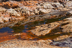 Zuurrijk Rio Tinto in Andalucia stock fotografie