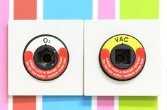 Zuurstof en vacuümafzet Stock Afbeelding