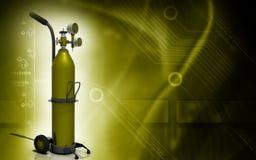 Zuurstofcilinder Stock Afbeelding