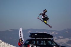 ZuzanÄ… StromkovÄ…, sciatore slovacco di stile libero fotografia stock libera da diritti