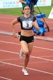 Zuzana Hejnova - 400-Meter-Hürden Lizenzfreie Stockfotografie