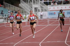Zuzana Hejnova - winner of 400 m hurdles Royalty Free Stock Photos