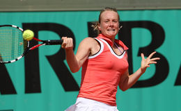 Zuzana KUCOVA (SVK) at Roland Garros 2010 Royalty Free Stock Image