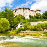 Zuzemberk Castle, Slovenian tourist destination. Royalty Free Stock Photography