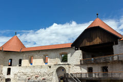 Zuzemberk medieval castle facade, Lower Carniola - Slovenia. Zuzemberk lies in the southern part of Carniola on the left bank of the Krka River and is dominated stock images