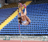 Zuzina Olga competes in pole vault competition Royalty Free Stock Photo