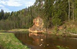 Zvarte rock in Latvia. Royalty Free Stock Image