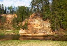 Zvarte rock in Latvia. Stock Photo