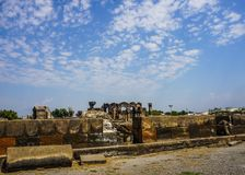 Zvartnots Cathedral Ruins Back View stock photos