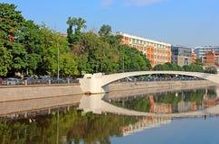 Zverev bridge in Moscow, Russia Stock Image