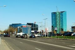 Zverynas区在下午时间的维尔纽斯 库存照片